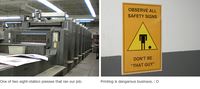 Press and safety sign.