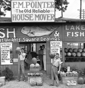 Roadside Stand Near Birmingham, 1936