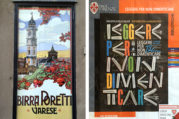 Birra Poretti & City Library Posters - Florence