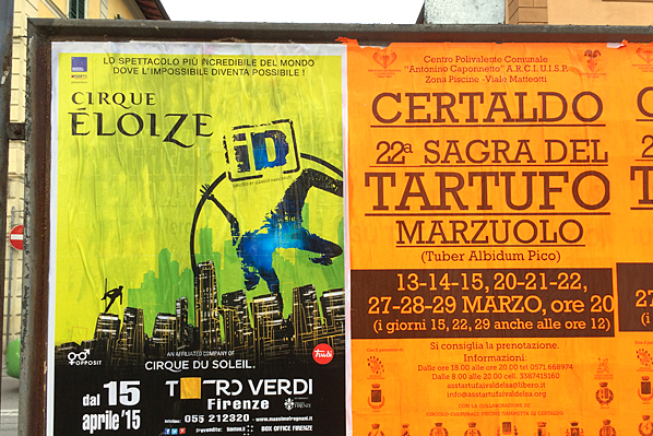 Train Station Billboard - Certaldo, Italy