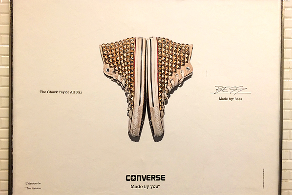 Converse Subway Billboard - Paris