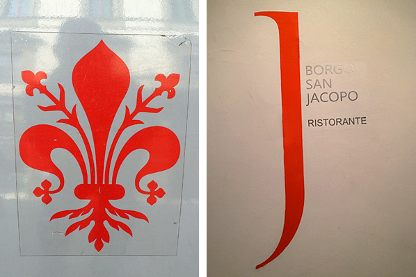 Firenze Giglio & Restaurant Signage - Florence