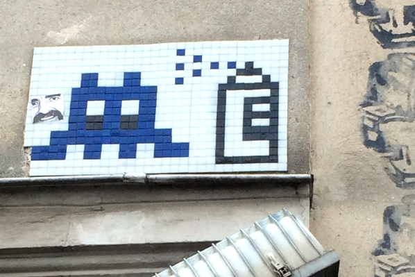 Space Invader Art - Paris
