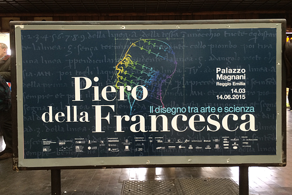 Piero della Francesco Museum Exhibit Billboard - Rome