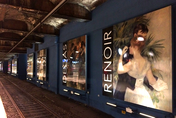 RER Train Station Billboards - Paris