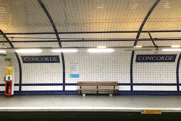Concorde Metro Station - Paris