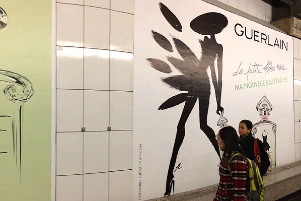 Guerlain Subway Billboard - Paris