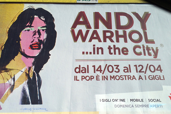 Andy Warhol Exhibit Outdoor Board - Florence